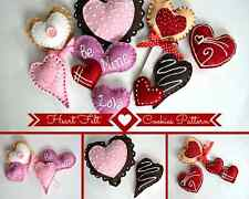 Felt Cookies Sewing Pattern, Felt Food Pattern, Heart Cookies, Play Food