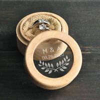 Wedding Ring Box Personalized Wedding Ring Box Wooden Wedding Ring Pillow Box