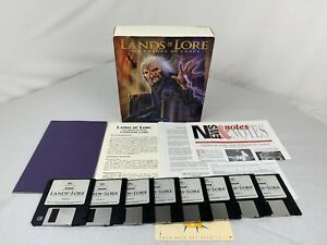 """Lands Of Lore - Throne of Chaos Big Box Pc IBM Game Westwood 3.5"""" 1993"""