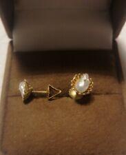 Ohrstecker gold 585 mit Süßwasser Perle