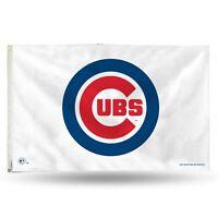 3x5 outdoor Flag - MLB Baseball - Chicago Cubs - White