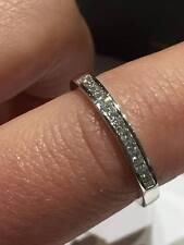 PLATINUM RING 0.25CT FSI DIAMONDS HALF ETERNITY PRINCESS CUT LADY RING GOY488