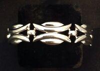 Vintage Silver Bracelet Signed Monet Chunky Timeless Costume Style 2j
