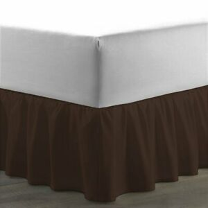 1000 TC Soft Egyptian Cotton 1 PC Ruffle Bed Skirt Full XL Sizes & Solid Colors