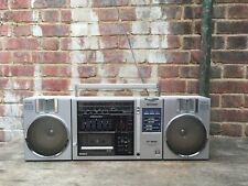 Vintage Sharp GF 9500 Ghetto Blaster Boom Box Cassette Tape Radio Portable Retro