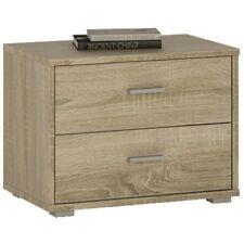 4 You Sonoma Oak Bedroom Furniture 2 Drawer Low Chest Bedside Cabinet Unit