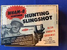 VINTAGE WHAM-O SPORTMAN HUNTING SLING SHOT ORIGINAL BOX & PAPERS Strap Broken