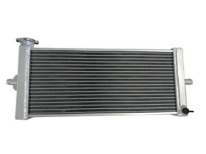2 Rows Universal Aluminum Radiator Air to Water Intercooler Heat Exchanger 19mm