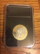 ISOLA di Man Giochi del Commonwealth della gioventù £ 2 LB (ca. 0.91 kg) Coin MANX TOSHA CAT 2011 CON MONTANTE UNC