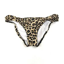 PINK Victorias Secret Bikini Bottoms Size XS Leopard Cheeky Beige Black Brown