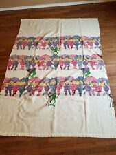 """Miss Piggy & Kermit the frog Muppets Twin Size fuzzy Blanket nice 66""""x91"""""""