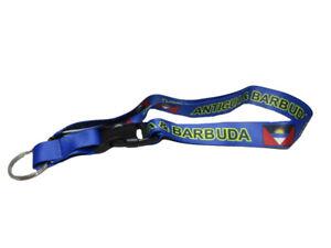 "32"" Antigua & Barbuda Country Flag Lanyard With Detachable Key Ring"