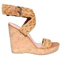STUART WEITZMAN Cork Wedge Sandals (SIZE 8.5)