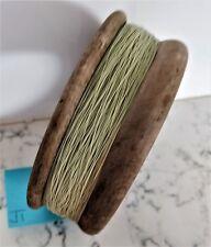 Vintage antique timber wooden fishing hand reel 12.5cm diameter x 4.5cm deep