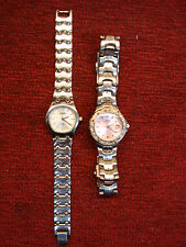 GROUP OF 2 LADIES QUARTZ FOSSIL WATCHES - NICE EVERYDAY TIMEPIECES - STAINLESS