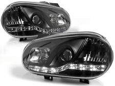 LED FARI ANTERIORI LPVW86 VW GOLF MK IV 1997 1998 1999 2000 2001 2002 2003 NERO