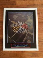 Teamwork Motivational Office Print framed Giving A Hand Makes All The Difference