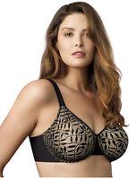 NWT Olga Sheer Leaves Unlined Bra Black/Nude  38C    355192M