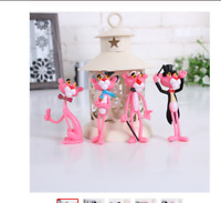 4 pcs/lot Action & Toy Figures Pink Panther Doll Cute Doll Micro Landscape Decor