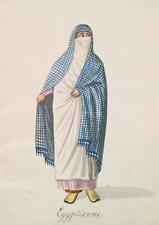 Ottoman Turkish Turkey Egyptian Arab Woman Traditional Dress 7x5 Inch Print