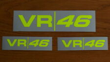 Valentino Rossi 3 Sticker decal aufkleber Fluorescent Yellow VR46 season 2019