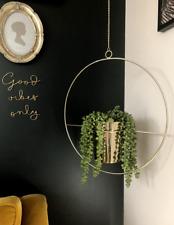 Industrial Boho Style Gold Hanging Flower Plant Pot Hanger Planter Herb Basket
