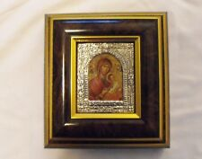 Sterling & 24K Gold Surround Madonna and Child, Italian  Icon LOWER START