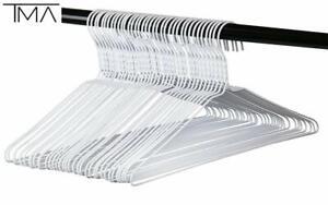 Wire Hangers Bulk - 100 White Metal Hangers - 18 Inch 14.5 Gauge Standard