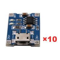 10X 5V Mini USB 1A TP4056 Lithium Battery Charging Board Power Charger Module