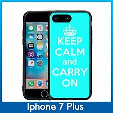 Turquoise Keep Calm and Carry On For Iphone 7 Plus & Iphone 8 Plus (5.5) Case