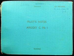 A.W. Argosy: 1962 Original Pilot's Notes/ 242 O.C.U at RAF Thorney Island