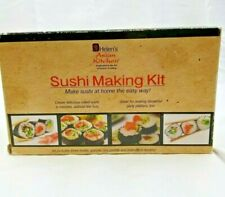 Helen's Asian Kitchen Sushi Making Kit NOS IOB Includes Molds, Spatula & Paddle