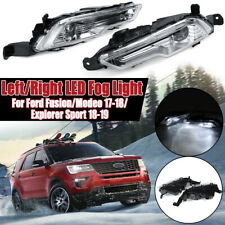 Pair LED Front Bumper Fog Light Lamp Clear For Ford Fusion Mondeo Explorer