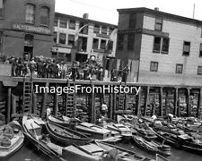 8x10 Print 1912 Liverpool city in Merseyside, England Boat Yard Workers #756
