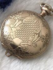 Vintage 0s 15j Waltham Pocket Watch In Beautiful GF Case