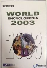Websters World 2003 Encyclopedia, PC CD-Rom Software.