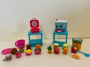 SHOPKINS Chef Club Juicy Smoothie & Hot Waffle Playset Lot-100% w/ 16 EXCLUSIVES