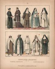 Clerical Vestments - Order Robes of Modern Centuries - 1925 Costume Plate
