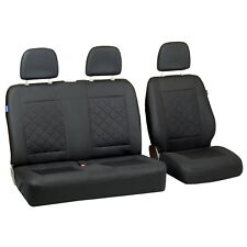 Intensive Black Seat Covers for Volkswagen T6 Car Seat Cover Set 1+2