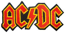 AC/DC Rock Band embroidered iron-on patch. 4.5 x 2 inch (i91)