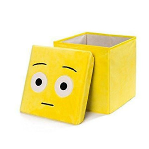 Emoji Box Seat Storage Square Home
