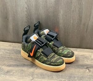 Nike x Carhartt Air Force 1 Low Sneakers WIP PRM Camo AV4112-300 Men's Size 6