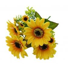 5Pcs Artificial Bunch Sunflower Spring Flowers Home Centerpieces Decor