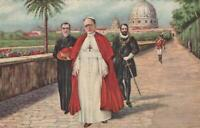 HIS HOLINESS POPE PIUS XI in the VATICAN GARDENS POSTCARD - EXCELLENT UNUSED