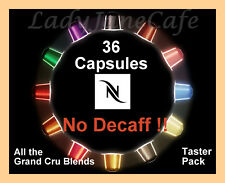 36 Capsule NESPRESSO Taster Pack, 2 EA  All BLENDS  - But No Decaf,Decaffeinated