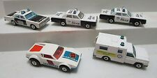 VINTAGE LESNEY MATCHBOX MERCURY POLICE CARS AMBULANCE & DE TOMASO PANTERA