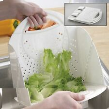 NEW! FLAT  FOLDING COLANDER (SELF STANDING) - PERFECT FOR SMALL KITCHENS/CAMPING