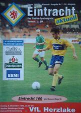 Programm 1998/99 Eintracht Braunschweig - VfL Herzlake