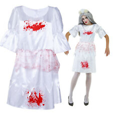 Adult Zombie Maid Dress Ladies Horror Fancy Dress Carnival Costume Party Outfit
