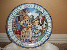 Royal Doulton Franklin Mint 'Bless This House' Teddy Bear Plate